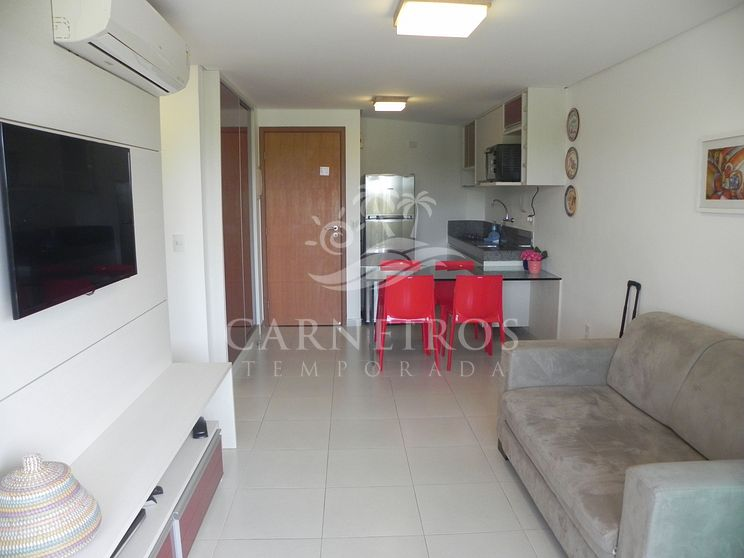 Flat 1 Quarto no Carneiros Beach Resort (B10-E)