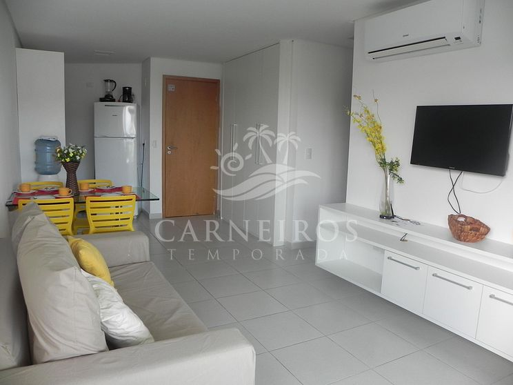 Flat 1 Quarto no Carneiros Beach Resort (C19-E)